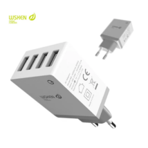 WSKEN 4port USB töltő adapter, 5V/2,1A