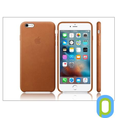 Apple iPhone 6 Plus/6S Plus eredeti gyári bőr hátlap - MKXC2ZM/A - saddle brown