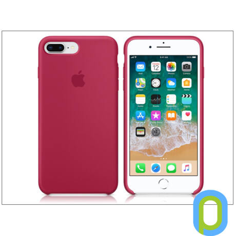 Apple iPhone 7 Plus/iPhone 8 Plus eredeti gyári szilikon hátlap - MQH52ZM/A - rose red