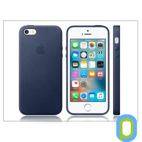 Apple iPhone 5/5S/SE eredeti gyári bőr hátlap - MMHG2ZM/A - blue