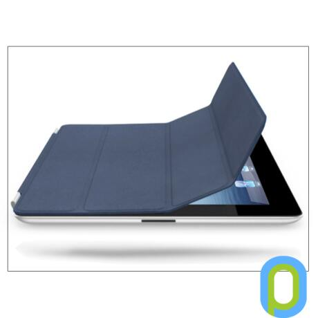 Apple iPad2/iPad3/iPad4 eredeti, gyári bőr Smart Cover - MD303ZM - navy