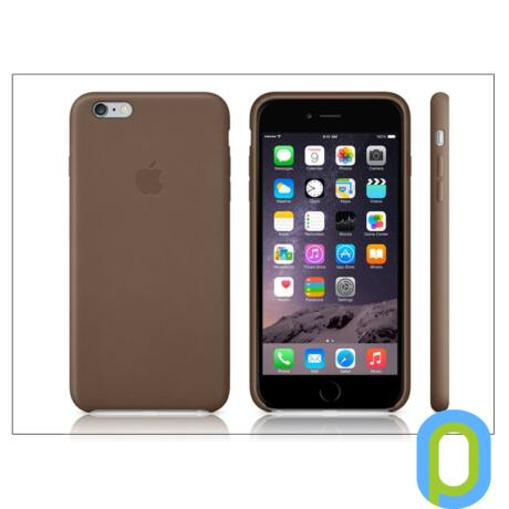 Apple iPhone 6 Plus/6s Plus eredeti gyári bőr hátlap - MGQR2ZM/A - brown