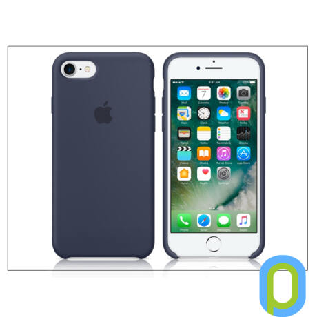 Apple iPhone 7/iPhone 8 eredeti gyári szilikon hátlap - MMWK2ZM/A - midnight blue