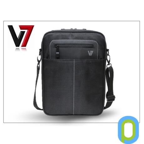 "Univerzális tablet táska 7""-10"" - V7 Cityline Messenger Bag - fekete"