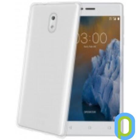 Celly Nokia 3 szilikon hátlap,Átlátszó