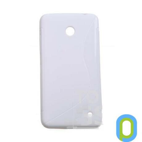 Szilikon tok, Nokia Lumia 635, fehér-g