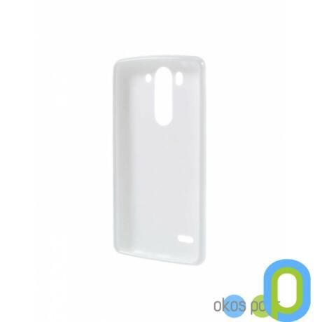 Szilikon tok, LG G3s, fehér-g