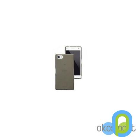 Szilikon tok, Sony Xperia Z3 compact, füst színű-g