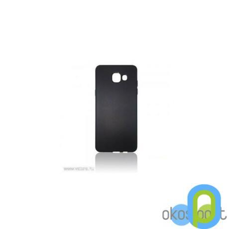 Szilikon tok, Samsung Galaxy A7, fekete-g