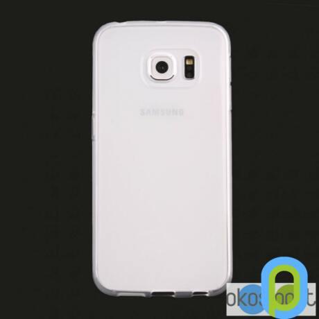 Szilikon tok, Samsung Galaxy S6, fehér-g