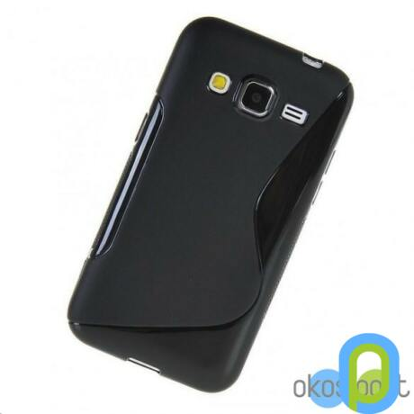 Szilikon tok, Samsung Galaxy Core Prime, fekete-g