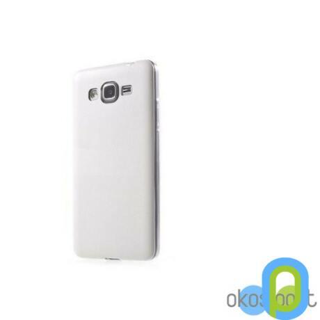 Szilikon tok, Samsung Galaxy Grand Prime, fehér-g