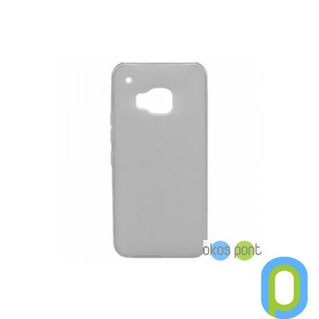 Szilikon tok, HTC One M9, füst szinű-g