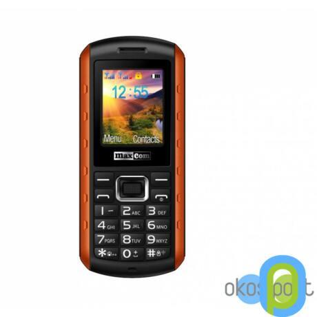 Maxcom MM901 mobiltelefon, dual sim-es kártyafüggetlen, ütés-, por-, víz (IP67)- és sár ellen - Narancs
