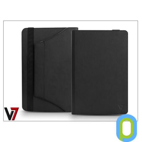 """Apple iPad Mini/iPad Mini 2 + univerzális forgatható tablet tok 7-8"""" méretű készülékig - V7 Universal Folio Stand - fekete"""