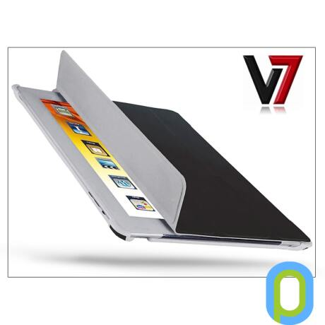 Apple iPad2 tok - V7 Ultra Slim Folio Stand - fekete