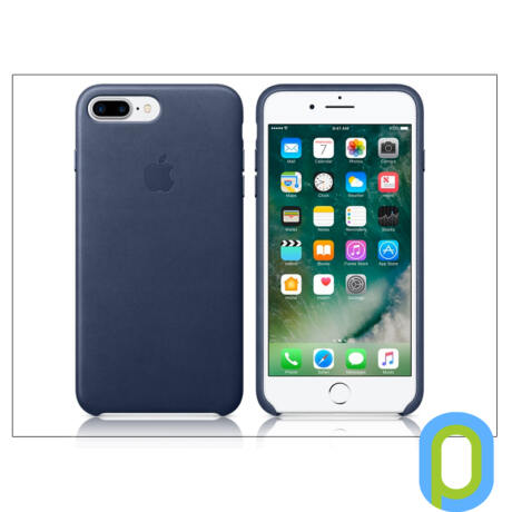 Apple iPhone 7 Plus/iPhone 8 Plus eredeti gyári bőr hátlap - MMYG2ZM/A - midnight blue