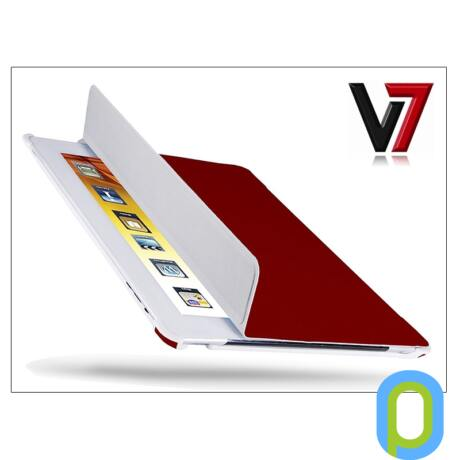 Apple iPad2/iPad3/iPad4 tok - V7 Ultra Slim Folio Stand - piros