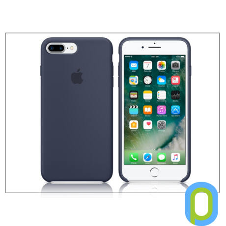 Apple iPhone 7 Plus/iPhone 8 Plus eredeti gyári szilikon hátlap - MMQU2ZM/A - midnight blue