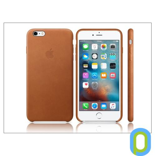 Apple iPhone 6 Plus/6S Plus eredeti gyári bőr hátlap - MKXC2ZM/A - saddle brown