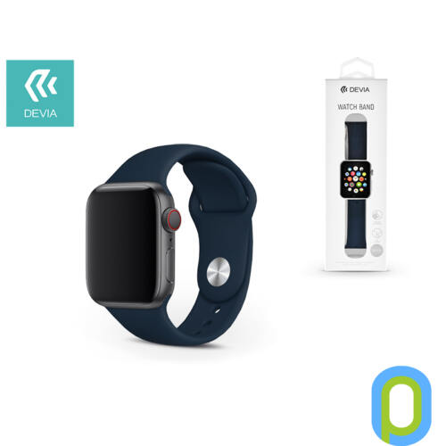 Apple Watch lyukacsos sport szíj - Devia Deluxe Series Sport Band - 42/44 mm - dark blue