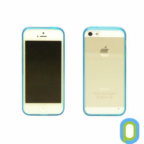 iPhone 5/5S vékony hátlap+szilikon keret,Kék