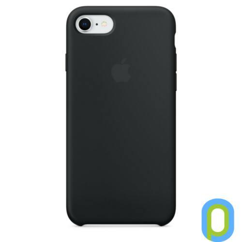Apple iPhone 8 / 7 szilikon hátlap, Fekete