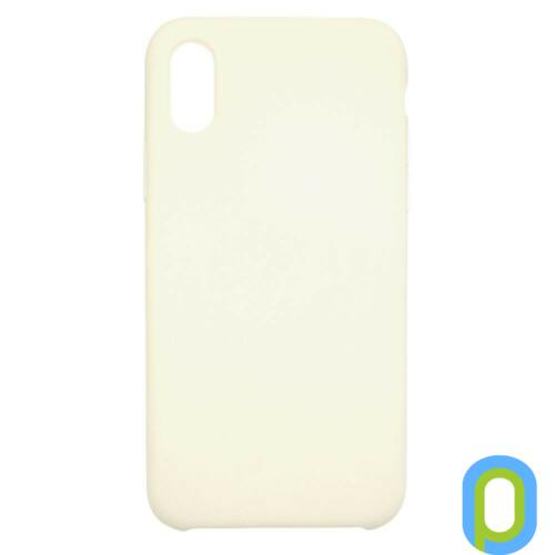 Premium szilikon tok, iPhone X, Cream