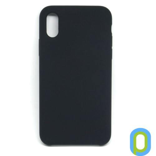 Premium szilikon tok, iPhone X, Fekete