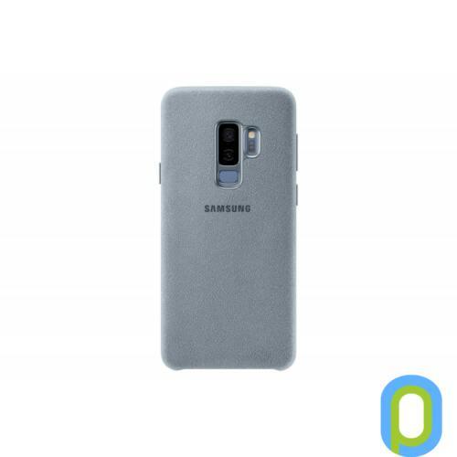 Samsung Galaxy S9+ Alcantara bőr hátlap,Menta