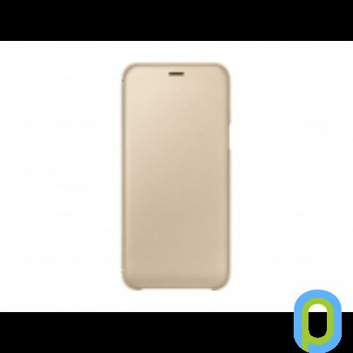 Samsung Galaxy A6 flip cover tok, Arany