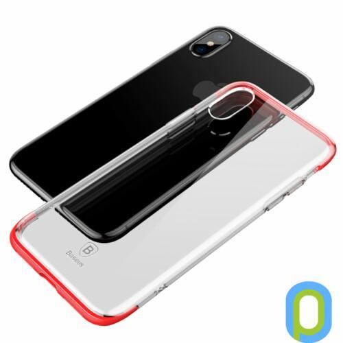 Baseus Armor szilikon hátlap, iPhone X, Piros