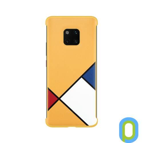 Huawei Mate 20 Pro absztrak art mintás tok, Sárga