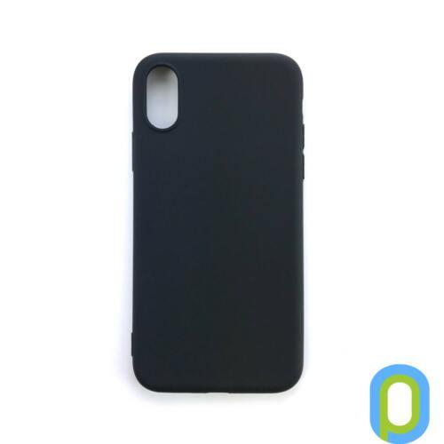 iPhone XS TPU szilikon hátlap, Fekete