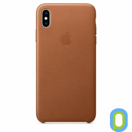 Apple iPhone XS Max bőr hátlap, Barna