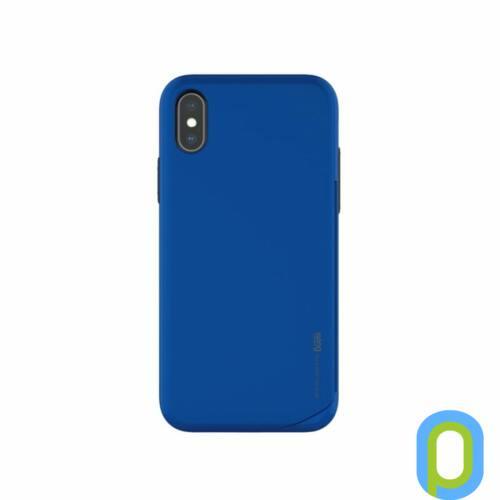 Hana Wing műanyag hátlap,kártya tartóval,iPhone XS, Kék