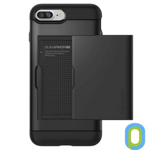 Spigen Slim Armor CS hátlap, iPhone 8/7+, Fekete