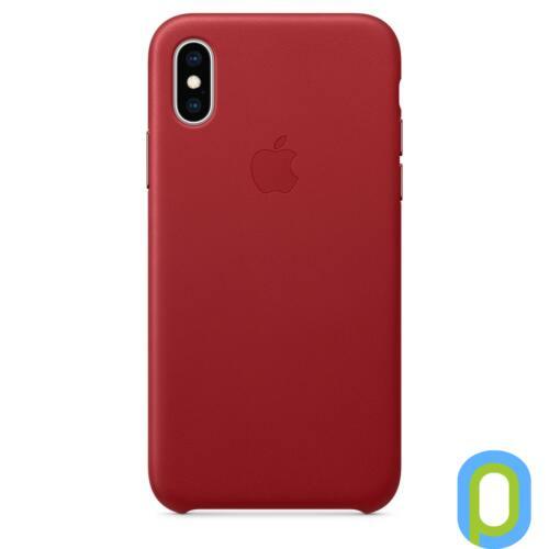 Apple iPhone XS bőr hátlap, Piros