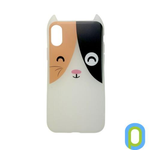 Hana Pop szilikon hátlap, iPhone XS/X, Foltos cica