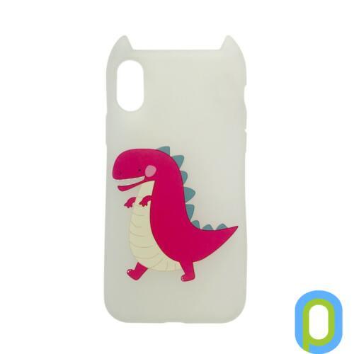 Hana Pop szilikon hátlap, iPhone XS/X, Dino