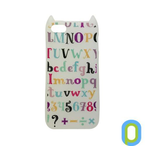 Hana Pop szilikon hátlap, iPhone SE, színes ABC
