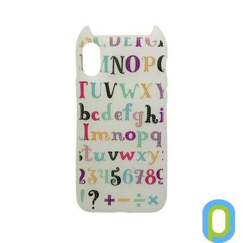 Hana Pop szilikon hátlap, iPhone XS/X, színes ABC