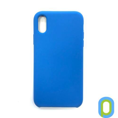 Premium szilikon tok, iPhone XS Max, Kék