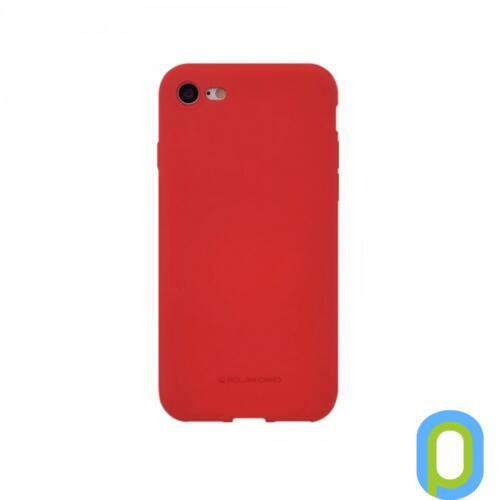 Hana SF matt szilikon hátlap, Galaxy S10 E, Piros