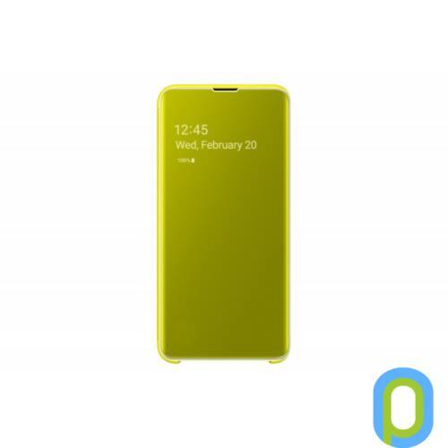 Samsung Galaxy S10 E clear view cover tok, Sárga