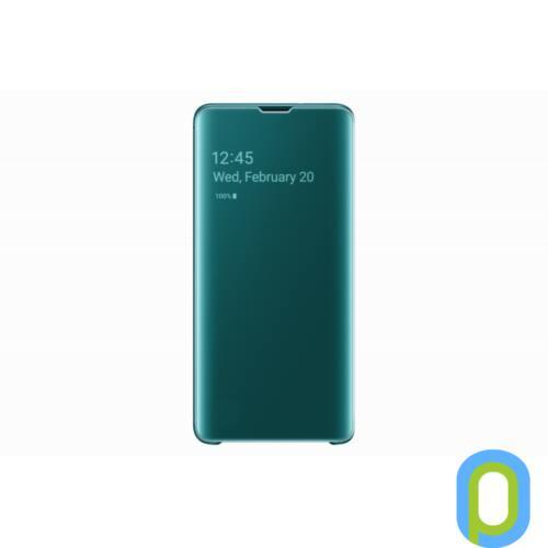 Samsung Galaxy S10 clear view cover tok, Zöld