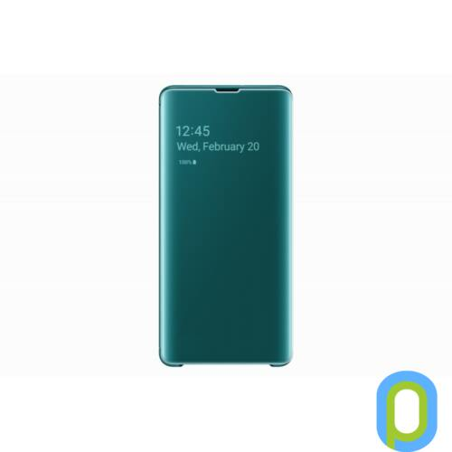 Samsung Galaxy S10 Plus clear view cover tok, Zöld