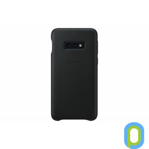 Samsung Galaxy S10 E bőr hátlap, Fekete