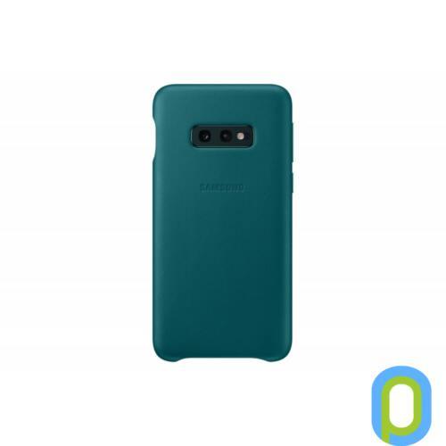 Samsung Galaxy S10 E bőr hátlap, Zöld
