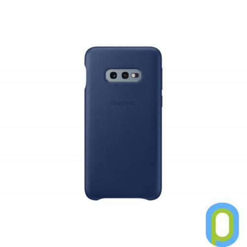 Samsung Galaxy S10 E bőr hátlap, Sötétkék
